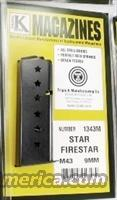Star M43 Firestar Compact 9mm Pistol Magazine 7 Shot Blue Steel New Triple K manufacture Model 43 only NOT for Firestar Plus   Non-Guns > Magazines & Clips > Pistol Magazines > 1911