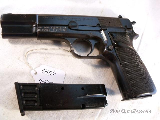 FN Browning 9mm Hi-Power Israeli Good 1976 with two 13-Shot Magazines HiPower High Power Belgian Belgium  Guns > Pistols > FNH - Fabrique Nationale (FN) Pistols > High Power Type