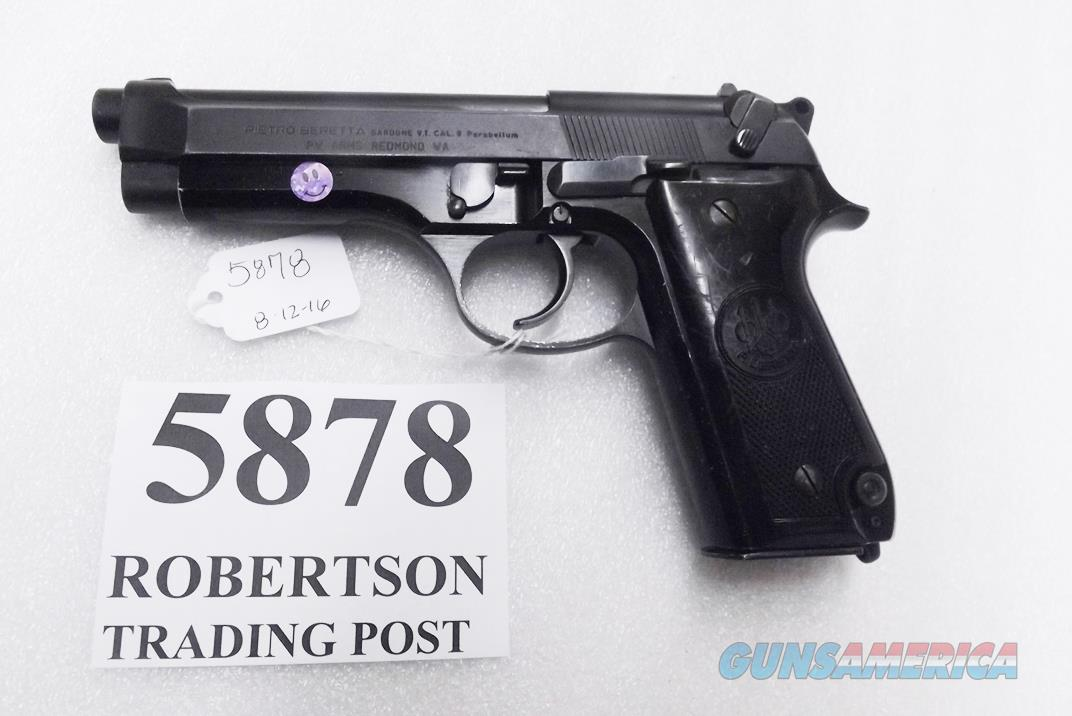 Beretta 9mm model 92S Italy Military Police Italian Carabinieri VG JS92F300M type / ancestor c1978 w1 15 round Magazine Factory Gloss Anodized Frame, Oxide Finish Slide & Barrel VGM  Guns > Pistols > Beretta Pistols > Model 92 Series