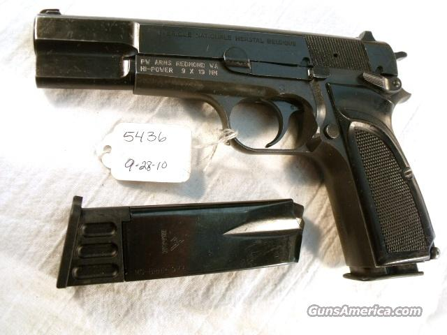 FN Browning 9mm Hi-Power Israeli G-VG ca. 1975 Updated w/2 Magazines  Guns > Pistols > Browning Pistols > Hi Power