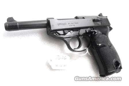 Walther 9mm P38 variant P1 Lightweight Military 1981 P-1 German Federal Border Guard BGS P-38 Descendant CA OK with 1 Factory 8 Shot Magazine  Guns > Pistols > Walther Pistols > Post WWII > P38