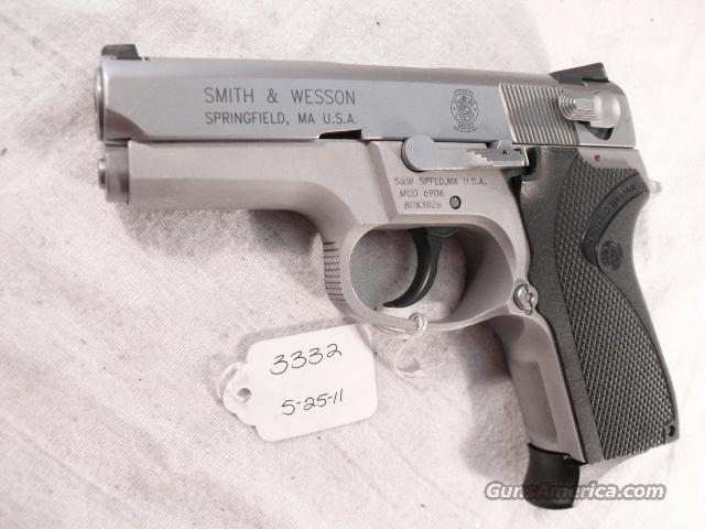 S&W 9mm model 6906 Compact Lightweight Stainless 13 Shot 1 Magazine VG 1999 California Department of Corrections Smith & Wesson 469 669 Descendant  Guns > Pistols > Smith & Wesson Pistols - Autos > Alloy Frame