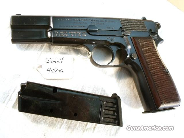 FN Browning 9mm Hi-Power Israeli VG ca 1953 w/2 Magazines  Guns > Pistols > Military Misc. Pistols Non-US