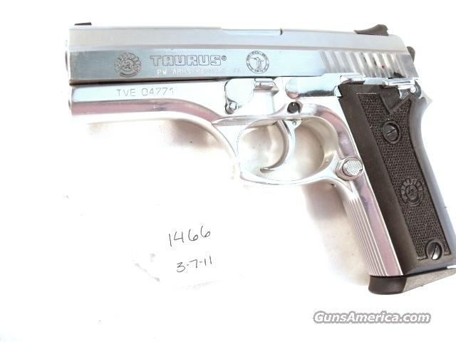 Taurus 9mm PT915 Stainless Lightweight Beretta Vertec type Israeli Police Beer Sheva mfg. ca. 2000 16 Shot 1 Magazine  Guns > Pistols > Surplus Pistols & Copies