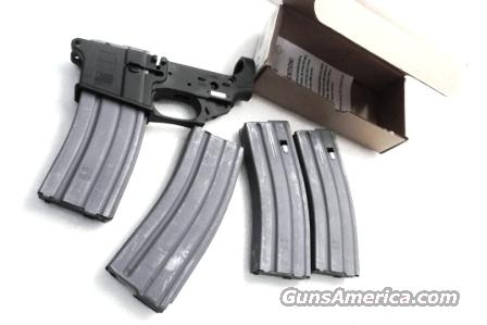 AR15 Lower Receiver ATI Omni Polymer NIB with 4 Colt 30 Shot Magazines Multi Caliber .22 LR or .223	AR-15 American Tactical Imports Rochester NY US Made  Guns > Rifles > AR-15 Rifles - Small Manufacturers > Lower Only