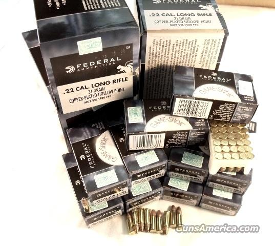 Ammo: .22 LR Federal Hyper Velocity 1500 Round 3 Carton / Brick Lot of 30 Boxes CCI Stinger Competitor 22 Long Rifle Hollow Point Ammunition Cartridges  Non-Guns > Ammunition