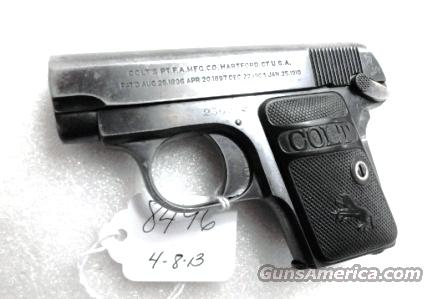 Colt .25 ACP Model of 1908 Vest Pocket 25 Automatic VG   Guns > Pistols > Colt Automatic Pistols (.25, .32, & .380 cal)