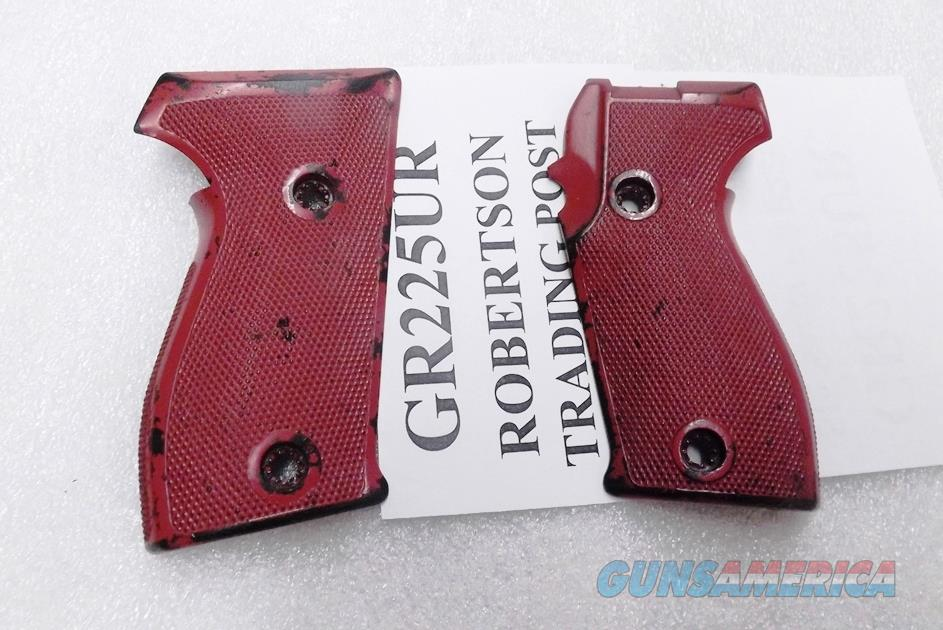 Sig P6 P225 Grips with 4 Washers 34221380 VG German Police Red P6PT 3 Lots ship Free!  Non-Guns > Gun Parts > Misc > Pistols