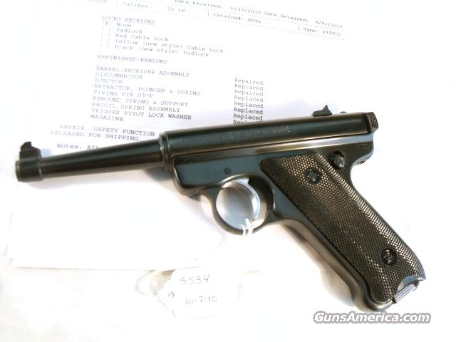 Ruger .22 LR RST-4 Mark I Blue 4 3/4 Exc 1976 Factory Refinish  Guns > Pistols > Ruger Semi-Auto Pistols > Mark I & II Family
