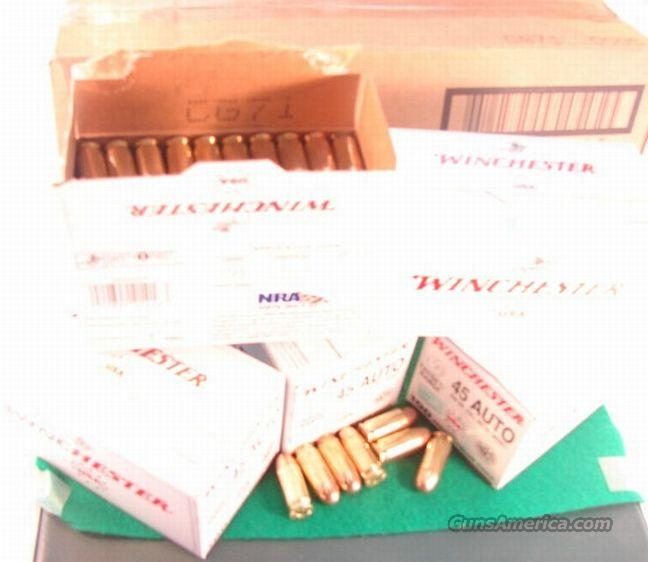 Ammo: .45 ACP Winchester 230 FMC 500 Rd Case Value Pack  Non-Guns > Ammunition