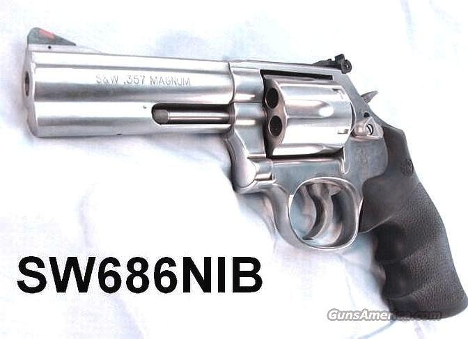S&W .357 Magnum 686 Stainless 4 inch 6-Shot New In Box  Guns > Pistols > Smith & Wesson Revolvers > Full Frame Revolver