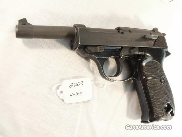 Walther 9mm P-38 Lightweight Parkerized VG 1959 P38 Federal German Police Bundespolizei C&R OK CA OK  Guns > Pistols > Surplus Pistols & Copies