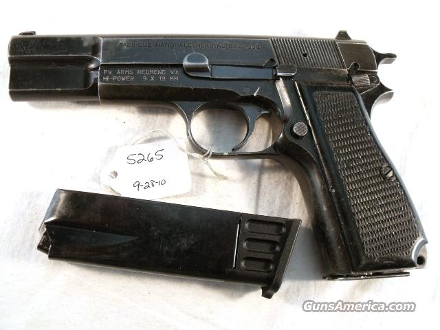 FN Browning 9mm Hi-Power Israeli Good 1996 w/2 Magazines High Power HiPower Belgium Belgian  Guns > Pistols > Surplus Pistols & Copies