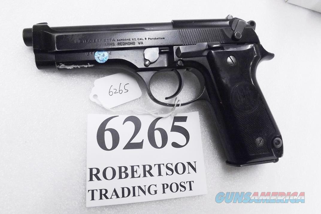 Beretta 9mm model 92S Italian MPs JS92F300M type / ancestor c1978 Good Refin Factory Brunitron Frame & Slide, Oxide Finish Barrel w1 15 round Magazine 7RRO  Guns > Pistols > Beretta Pistols > Model 92 Series