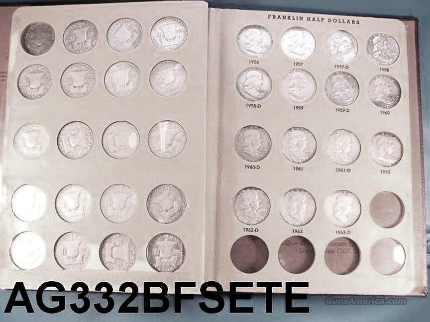 Silver: Complete Set of Franklin Halves 1948 – 1963 F-XF 35 Halves  Non-Guns > Coins