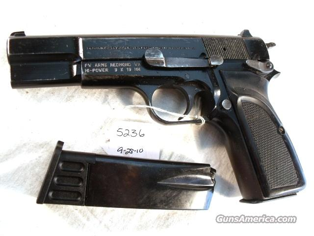 FN Browning 9mm Hi-Power Israeli Good mfg 1990 w/2 Magazines  Guns > Pistols > FNH - Fabrique Nationale (FN) Pistols > High Power Type