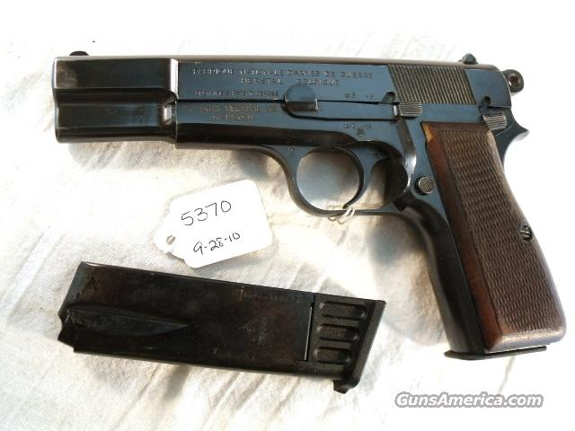 FN Browning 9mm Hi-Power Israeli VG ca 1948 w/2 Magazines  Guns > Pistols > FNH - Fabrique Nationale (FN) Pistols > High Power Type