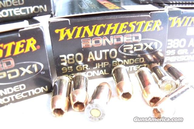 Ammo: .380 ACP Winchester 20 Boxes PDX Bonded Supreme Elite 95 grain Hollow Point Personal Defense 380 Automatic Ammunition Cartridges 9mm Kurz   Non-Guns > Ammunition