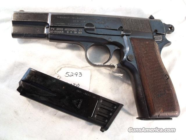 FN Browning 9mm Hi-Power Israeli Good ca 1946 w/2 Magazines  Guns > Pistols > Military Misc. Pistols Non-US