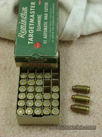 Ammo: .45 ACP WC 1950s Remington Targetmaster Half-Box Lot Very Good 1950s  Non-Guns > Collectible Cartridges