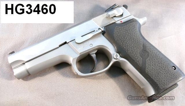 S&W 9mm Model 5906 Stainless 1995 Excellent Refinish 2 Mags Hogues S&W Box Smith & Wesson   Guns > Pistols > Smith & Wesson Pistols - Autos > Steel Frame