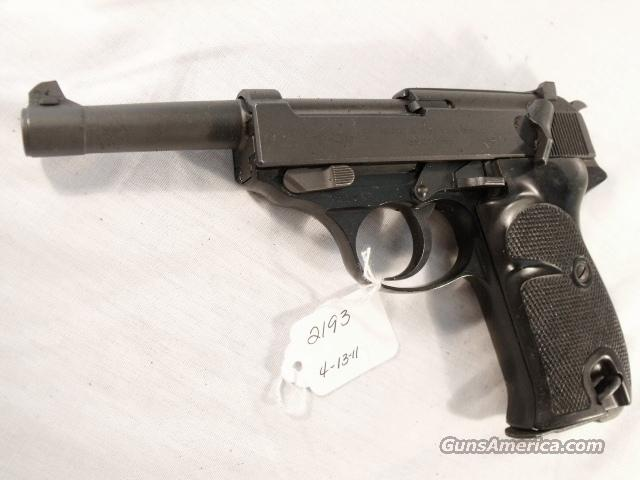 Walther 9mm P-38 Lightweight Parkerized VG 1962 P38 Federal German Police Bundespolizei   Guns > Pistols > Walther Pistols > Post WWII > Large Frame Autos