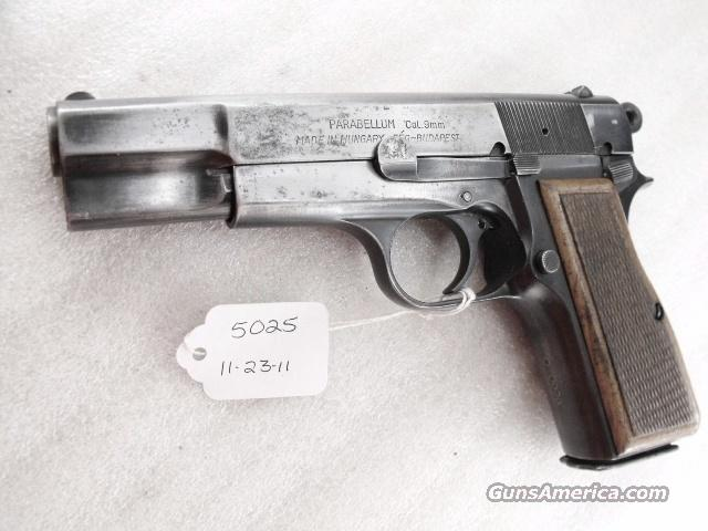 FEG Hungary 9mm Browning Hi-Power Copy FEG Hungarian P9M PJK-9HP Commander Hammer 1980s  Guns > Pistols > FEG Pistols