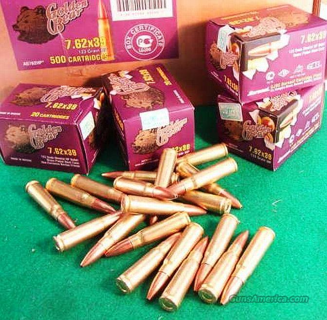 Ammo: 7.62x39 HP Russian 20 box or 500 Case  Non-Guns > Ammunition