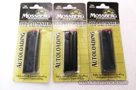 Lots of 3 or more Mossberg 702 Plinkster factory 10 Shot Magazines .22 LR 3x$29 NIB fits Model 715T Rifles $23 per on 3 or more   Non-Guns > Magazines & Clips > Rifle Magazines > Other