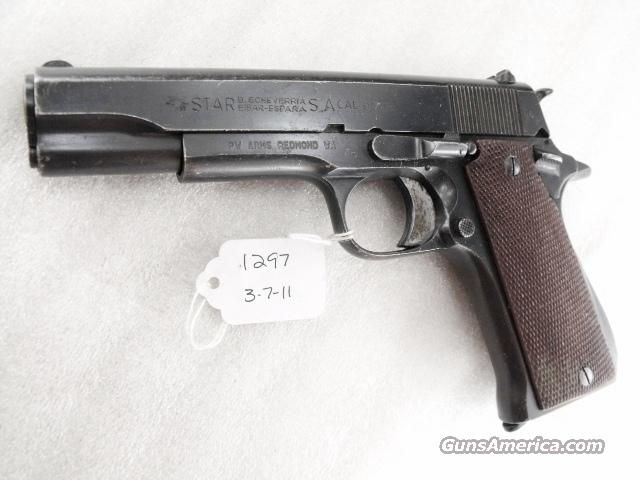 Star Spain 9mm Model BS Colt Government Size Steel Frame 1968 Israeli Army Police with 1 Magazine  Guns > Pistols > 1911 Pistol Copies (non-Colt)