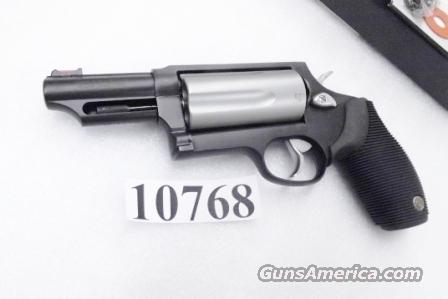 Taurus .45 / .410 Judge 3 inch Cylinder Chambers 3 in Barrel Stainless Cylinder Hammer Trigger with Matte Blue Frame 45 Colt 410 gauge 2 1/2 and 3 inch Shells Interchangeably  Guns > Pistols > Taurus Pistols/Revolvers > Revolvers