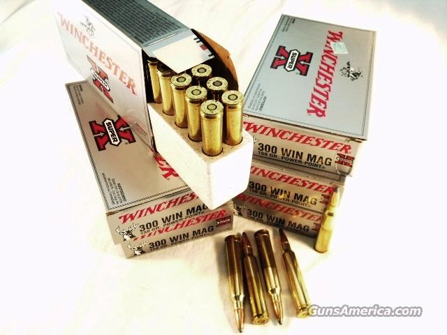 Ammo: .300 Magnum Winchester 180 Round Lot of 9 Boxes 150 grain Power Point Soft Point 300 Win Mag Ammunition Cartridges X30WM1  Non-Guns > Ammunition