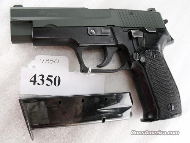 Sig 9mm P-226 Swiss Police Black Ice OD Green Teflon Slide P226 Sig Sauer all German with two Mec-Gar Magazines CA MA OK 1994 		  Guns > Pistols > Sig - Sauer/Sigarms Pistols > P228