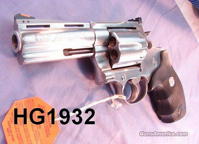 Colt Anaconda .44 Mag 4 in Stainless Exc  Guns > Pistols > Colt Double Action Revolvers- Modern