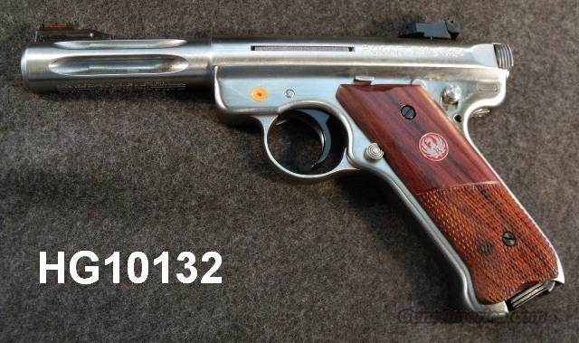 Ruger .22 LR Hunter Mark III 4 1/2 Fluted Heavy Bull Barrel Stainless 2 Magazines Adjustable Sights Picatinny Weaver Scope Mounts NIB 22 Long Rifle KMKII45H 10132  Guns > Pistols > Ruger Semi-Auto Pistols > Mark I & II Family