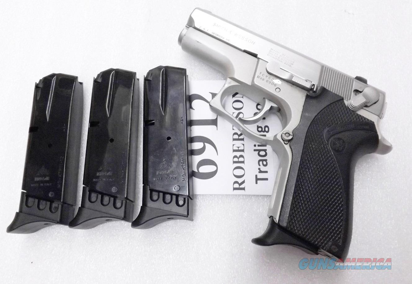 3 Smith & Wesson 6906 Magazines 12 Shot Mec-Gar S&W models 469 669 6904 6900 Series 19055 type 6912 New Blue KTCP1112 with Finger RestTail Piece Buy 3 Ships Free!  Non-Guns > Magazines & Clips > Pistol Magazines > Smith & Wesson