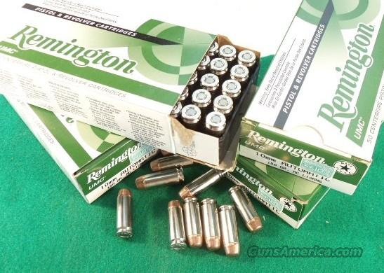 Ammo: 10mm Remington 180 grain FMC 50 Round Boxes Ammunition Cartridges 10 mm Full Metal Jacket Case  Non-Guns > Ammunition
