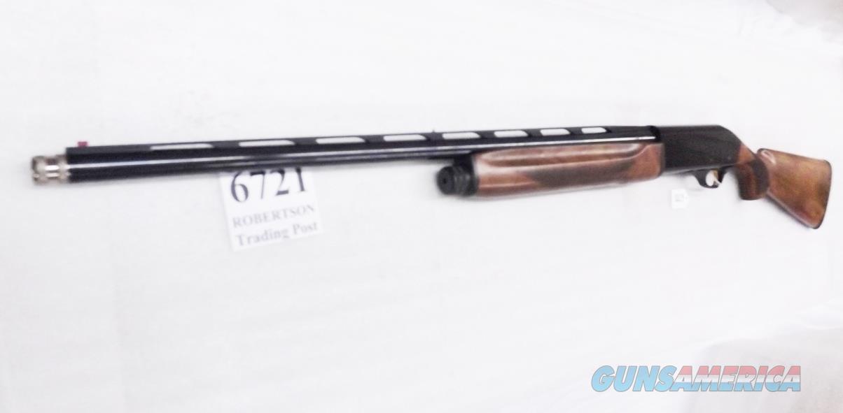 Akkar SGAI 600S Sporting Auto 12 Gauge 3 inch 28 in Vent Ported Bright Blue & Figured Walnut 5 Shot Beretta AL type Gas Operated 1 Tube 2012 mfg Exc Charles Daly Importer  Guns > Shotguns > AKKAR