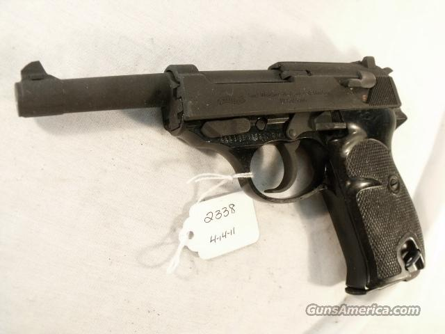 Walther 9mm P-38 variant P1 Lightweight Parkerized VG-Exc 1965 P-1 Federal German Police Bundespolizei CA OK P38   Guns > Pistols > Surplus Pistols & Copies