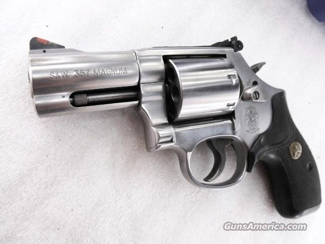 Smith & Wesson model 686-6 Stainless 7 Shot Plus Variant .357 Magnum 3 inch Non Fluted Talo Special with Pachmayr SKC Grips NIB 357 Mag 38 Special S&W    Guns > Pistols > Smith & Wesson Revolvers > Full Frame Revolver