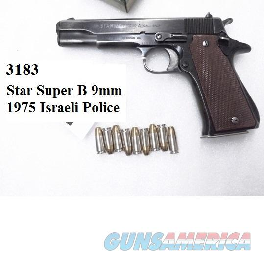 Star 9mm B Super Israeli Police 1975 Good 9 Shot 1 Magazine SuperB   Guns > Pistols > Star Pistols