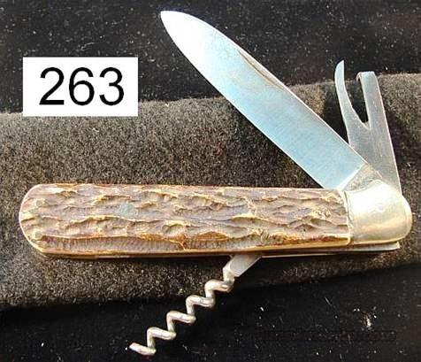 Knife: Ring Solingen Stag 1960s Spear Blade Utility  Non-Guns > Knives/Swords > Knives > Folding Blade > Hand Made