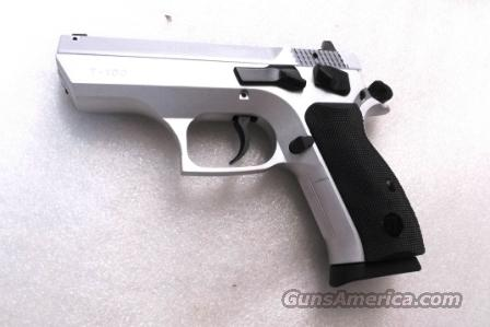 CZ75 Clone Tri Star T100 9mm 16 shot with 2 Mec-Gar 15 Shot Magazines Hard Chrome Satin Nickel type with Commander Hammer 3 7/8 inch 3 Dot NIB EAA Witness Competitor CZ Mag Compatible  Guns > Pistols > Canik USA Pistols
