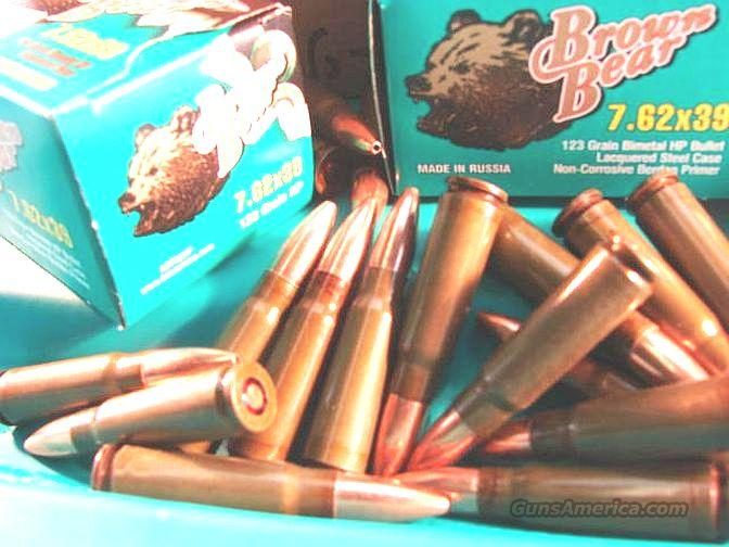 Ammo: 7.62 x 39 Hollow Point Brown Bear Case of 500 Rounds  Non-Guns > Ammunition
