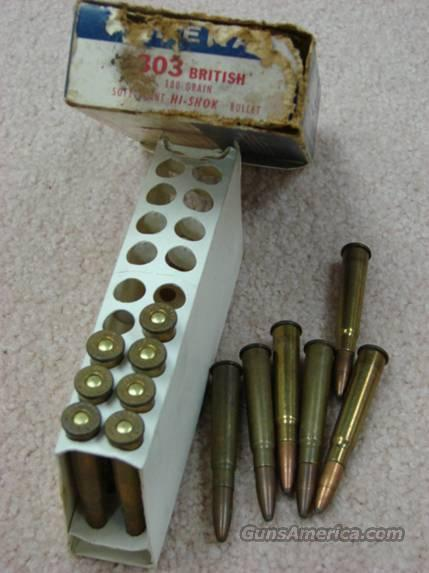 Ammo: 1960s Federal .303 British box & 13 rds VG Cond  Non-Guns > Collectible Cartridges