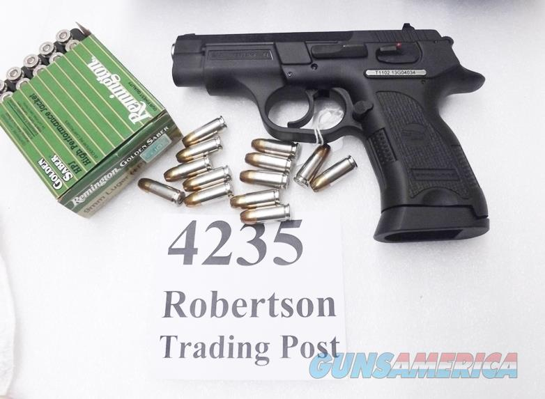 CZ75 P01 Clone SAR Arms EAA 9mm model SARB6P9 Compact 3 Dot Sights 14 shot 1 Magazine Commander Hammer 3 1/2 inch K2 K-2 CZ Mag Compatible 400424 Compatible with CZ75 and Baby Eagle Magazines Exc in Box   Guns > Pistols > EAA Pistols > Other