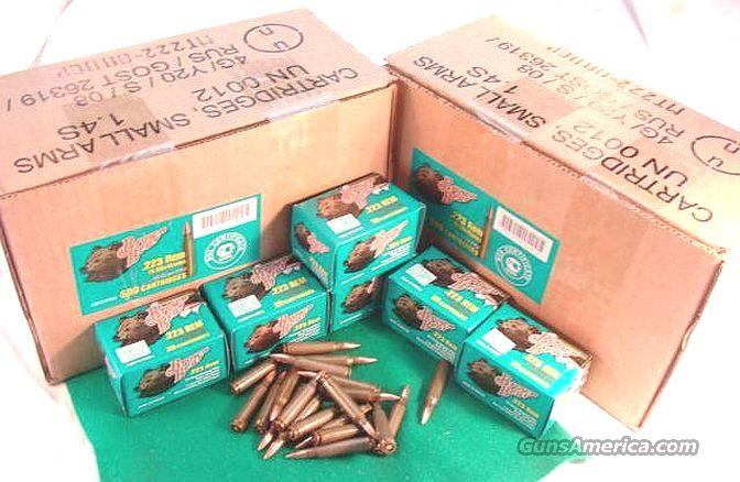 Ammo: .223 FMC 20 Box 55 gr Russian Steel Case; Case lots available & cheap 223 Ammunition Cartridges Barnaul 5.56 556 NATO   Non-Guns > Ammunition