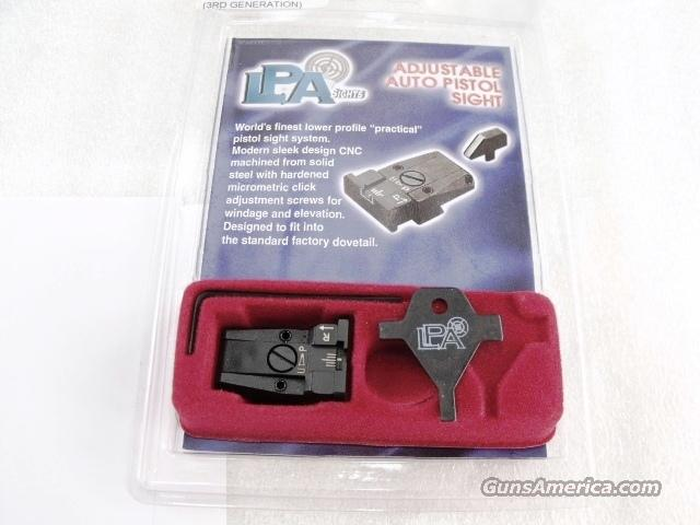 Smith & Wesson Adjustable Rear Sight 1000 10mm or 4500 type 45 caliber 3rd Gen Pistols LSA Italy Low Profile Micro Style White Dot New in Box   Non-Guns > Gun Parts > Military - American