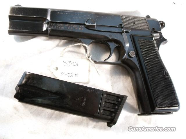 FN Browning 9mm Hi-Power Israeli Good 1969 w/2 Magazines  Guns > Pistols > Military Misc. Pistols Non-US