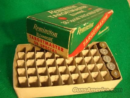 Ammo: Rem Targetmaster Box with 5 period brass VG-Exc  Non-Guns > Ammunition